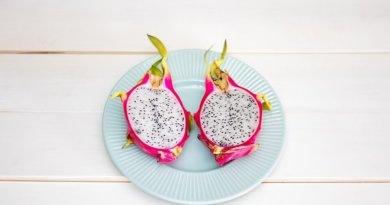 Драконий фрукт - фото разрезаного фрукта питахайя