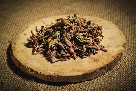 сухой чай Саган Дайля перед использованием