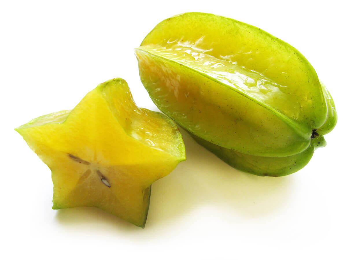Карамболь фото фрукта и кусочка звезды