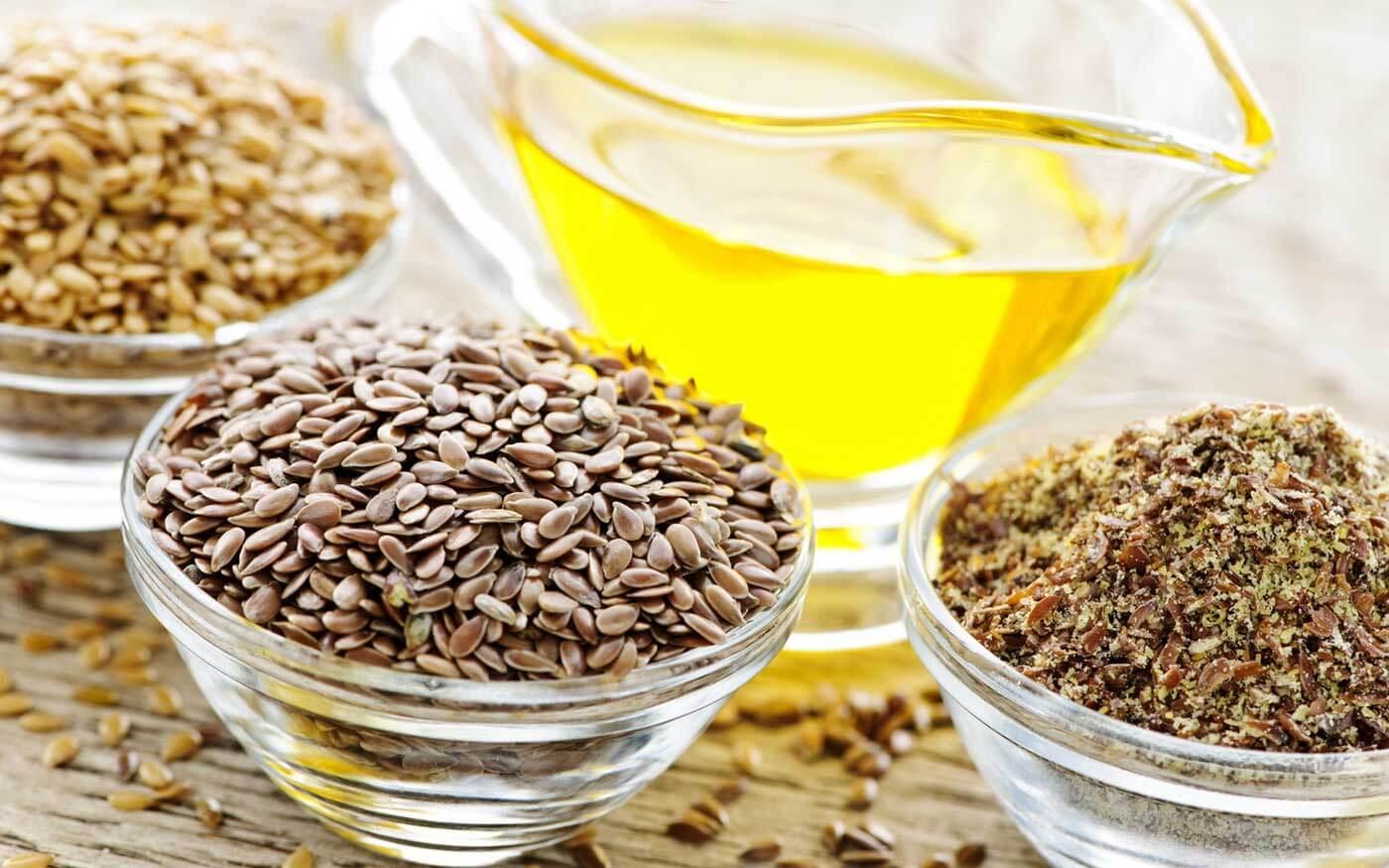 Льняное масло с леном и жмыхом